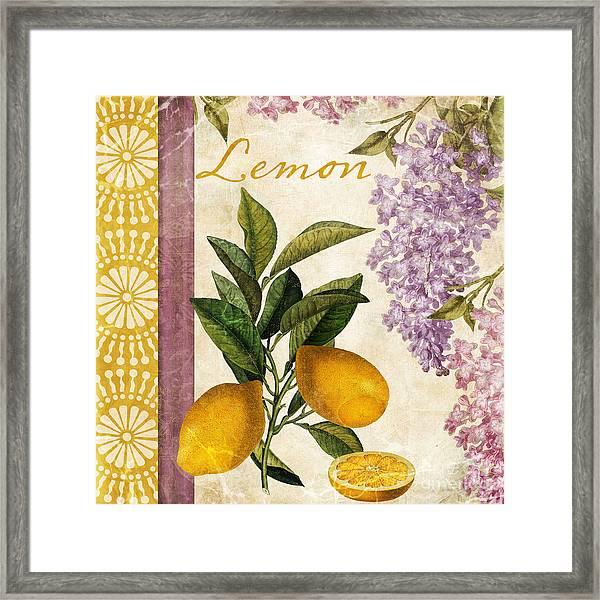 Summer Citrus Lemon Framed Print