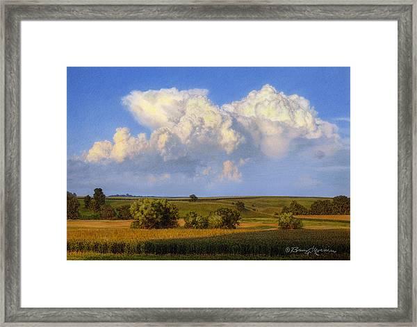 Summer Evening Formations Framed Print