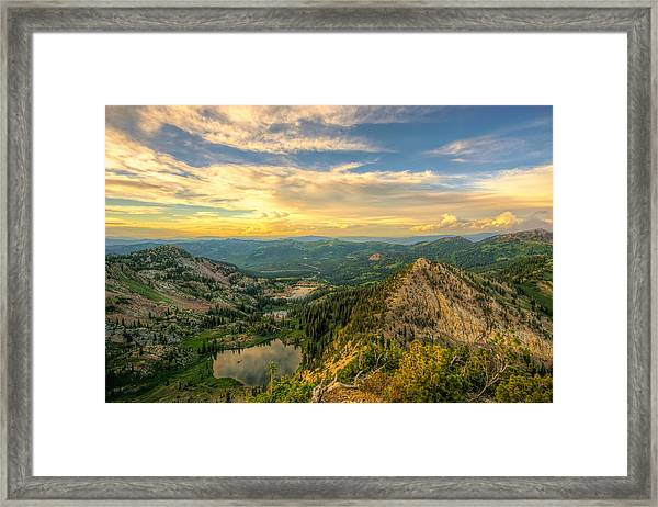 Summer Evening View From Sunset Peak Framed Print