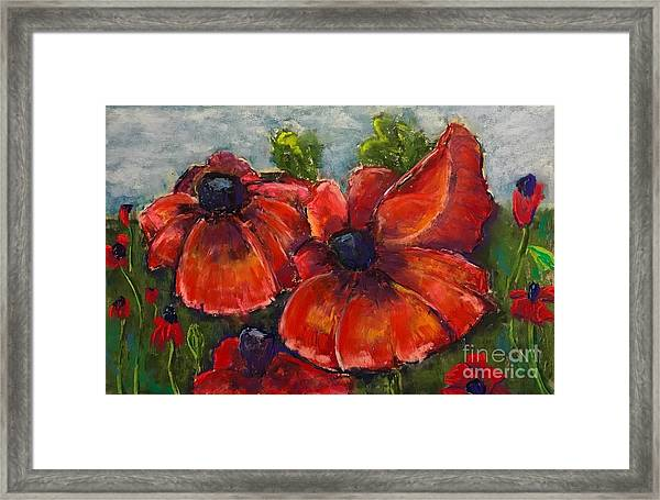 Summer Field Of Poppies Framed Print