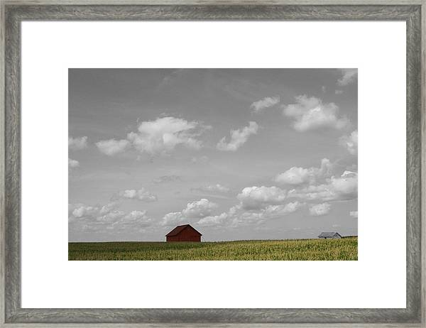 Framed Print featuring the photograph Summer Fields II by Dylan Punke