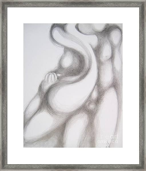 Summer Flirt Framed Print