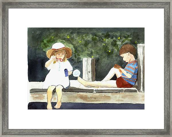 Summer Friends Framed Print by Jane Croteau