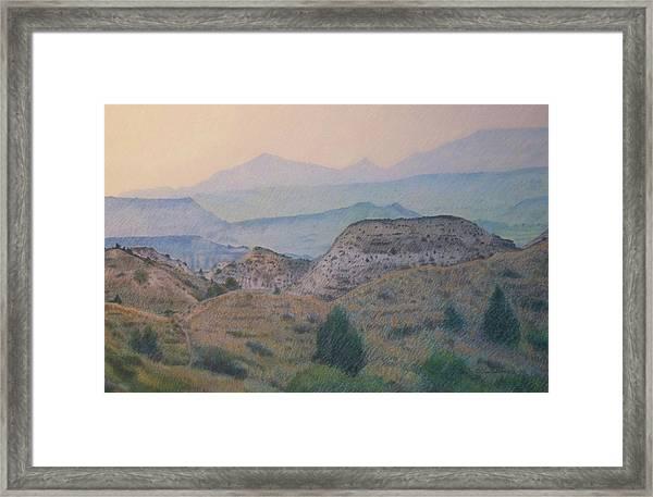 Summer In The Badlands Framed Print