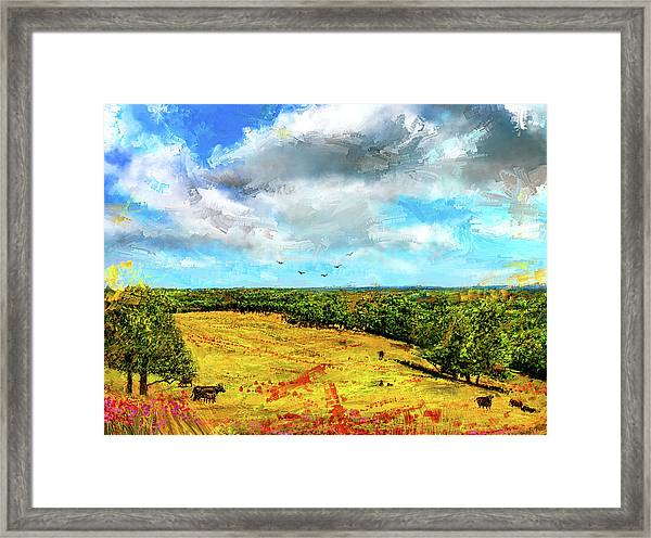 Summer Interlude -missouri Art Framed Print