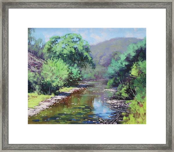 Summer Light Williwa Ck Framed Print