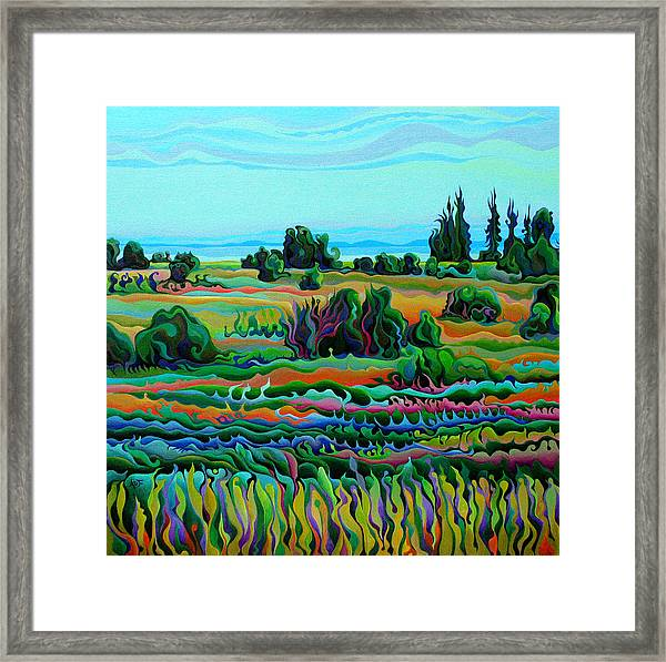 Summer Meadow Dance Framed Print
