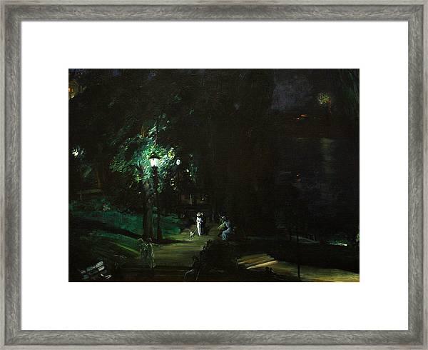 Summer Night Riverside Drive Framed Print