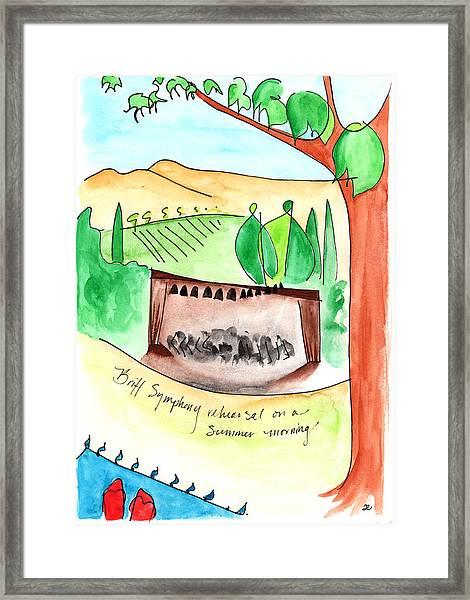Summer On Britt Hill Framed Print