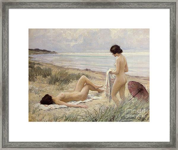 Summer On The Beach Framed Print
