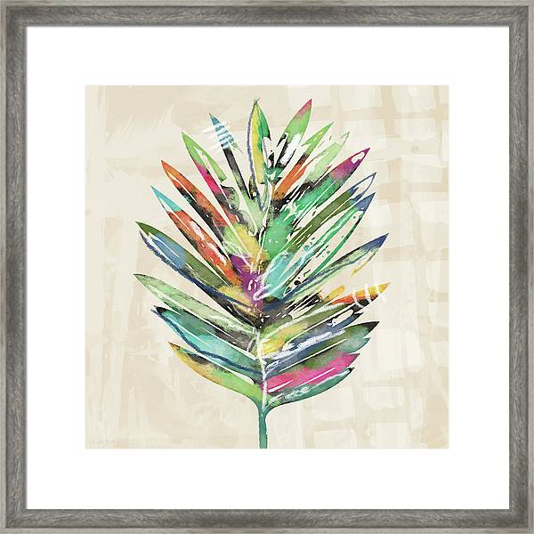 Summer Palm Leaf- Art By Linda Woods Framed Print