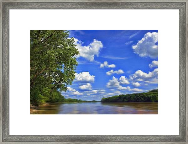 Summer River Glory Framed Print