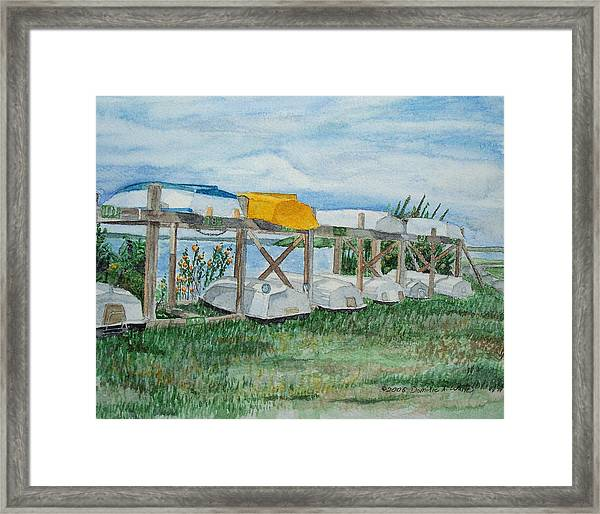 Summer Row Boats Framed Print