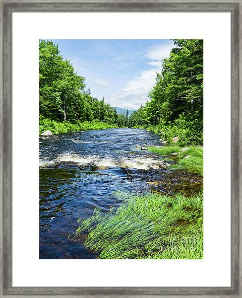 Summer Scene Rangeley Maine  -70742 Framed Print