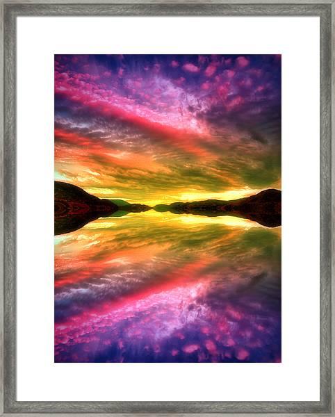 Summer Skies At Skaha Framed Print