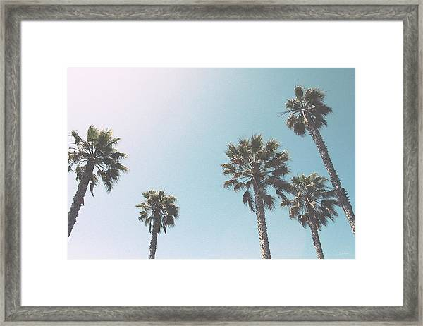Summer Sky- By Linda Woods Framed Print