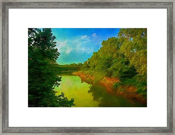 Summer Soft Morning Creek Framed Print