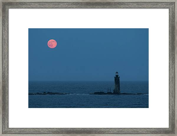 Summer Solstice Strawberry Moon Framed Print