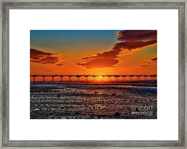Summer Solstice Sunset Framed Print