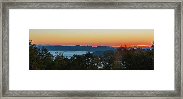 Framed Print featuring the photograph Summer Sunrise - Almost Dawn by D K Wall