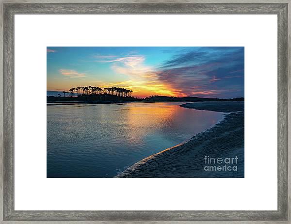 Summer Sunrise At The Inlet Framed Print