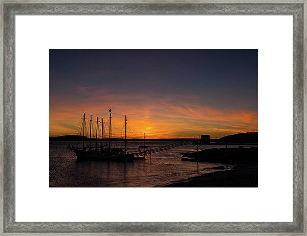 Summer Sunrise In Bar Harbor Framed Print