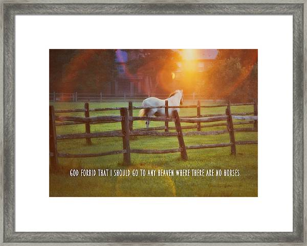 Summer Sunset Quote Framed Print