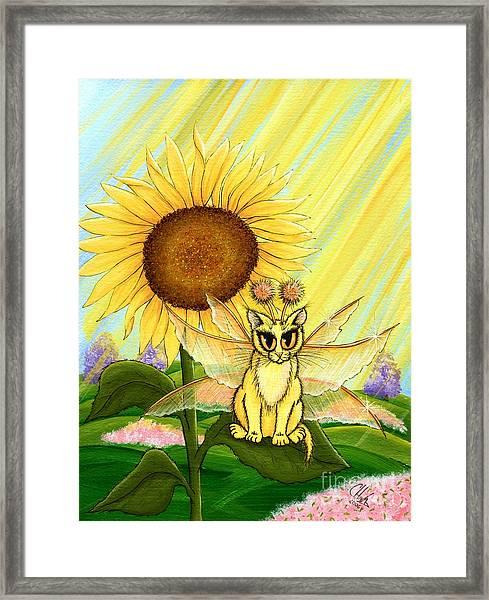 Summer Sunshine Fairy Cat Framed Print