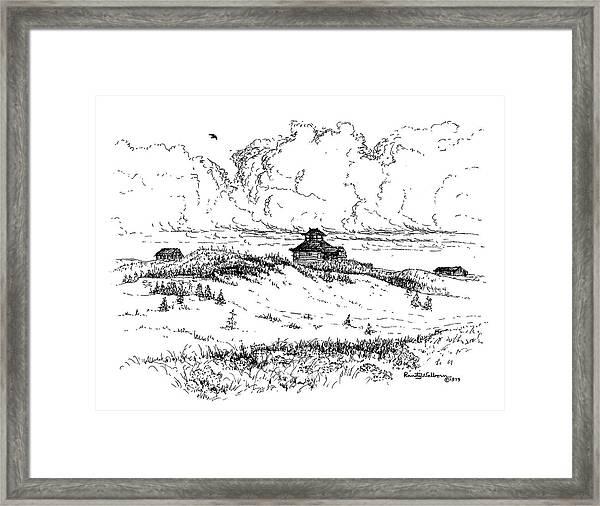 Summer Thunderheads Framed Print
