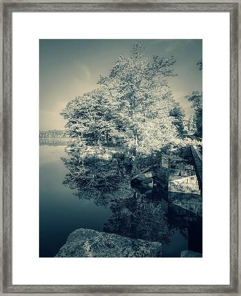 Summer Time Blues Framed Print