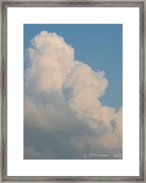 Summer Time Cloud Framed Print by Carolyn Postelwait
