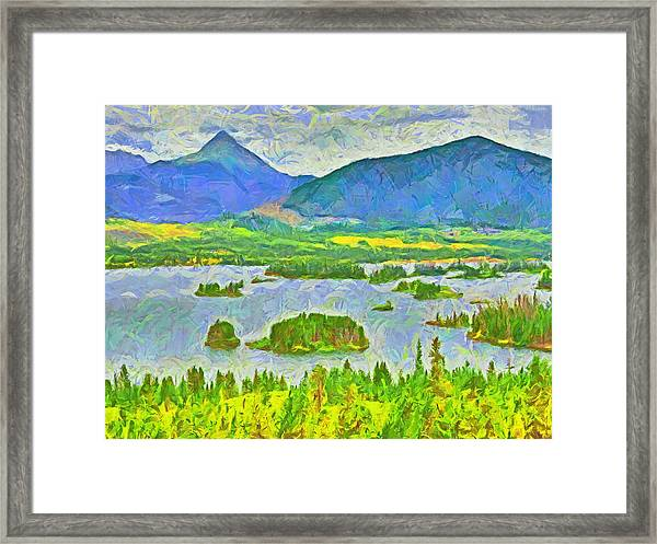 Summer View Of Lake Dillon In The Colorado Rocky Mountains Framed Print