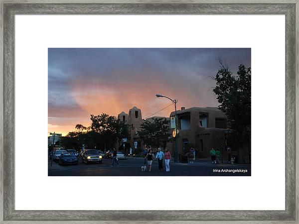 Summer Walk In Santa Fe  Framed Print