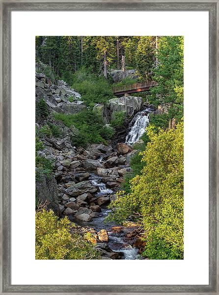 Summer Waterfall Framed Print