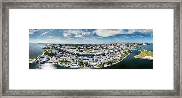 Summerfest Panorama Framed Print