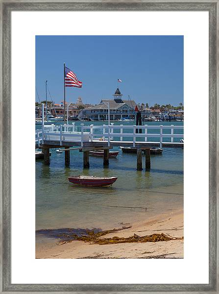 Summertime In  Newport Beach Harbor Framed Print