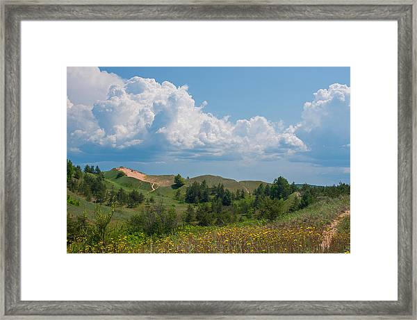 Summertime In The Grand Sable Dunes Framed Print