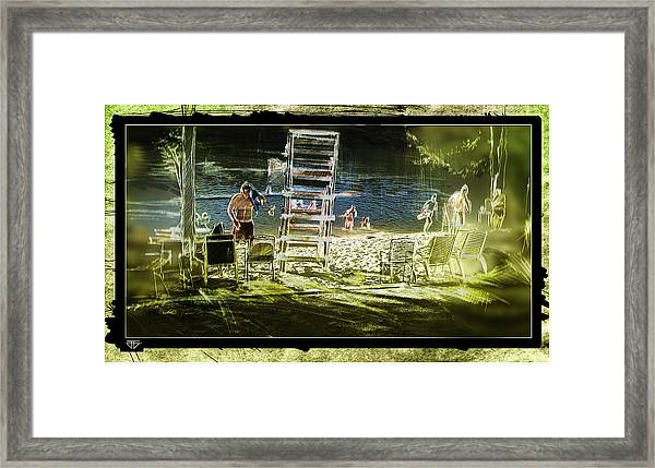 Summertime Water Polo Framed Print