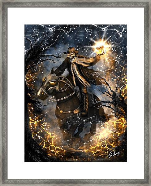 Summoned Skull Fantasy Art Framed Print