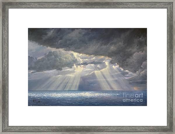 Storm Subsides Framed Print