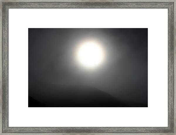 Sun And Fog Framed Print