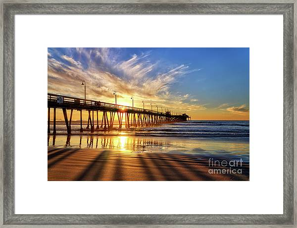 Sun And Shadows Framed Print