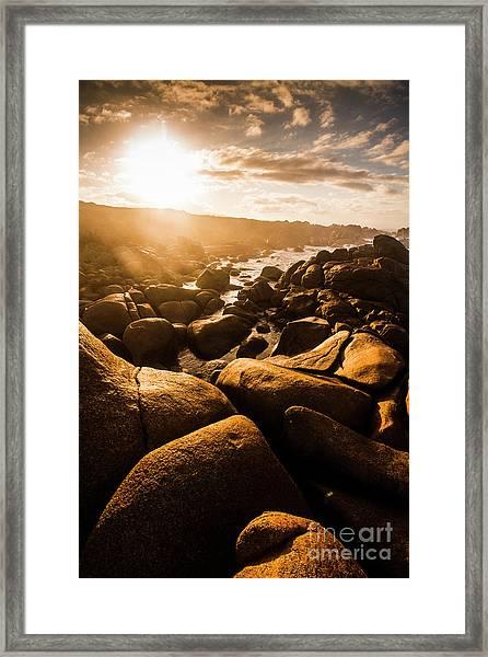 Sun Bleached Australia Beach Framed Print