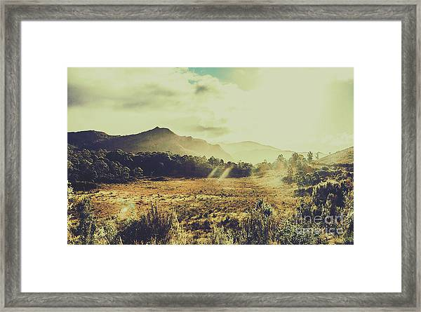 Sun Bleached Australia Framed Print