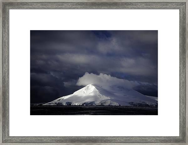 Sun Breakthru- Antarctica Framed Print