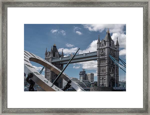 Sun Clock With Tower Bridge Framed Print