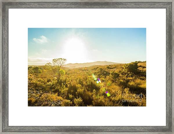 Sun Flare Prairie  Framed Print