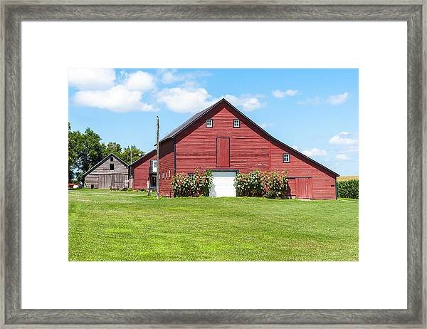 Sun Flower Barn Framed Print