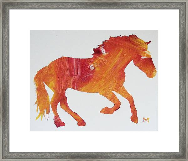 Framed Print featuring the painting Sun Horse by Candace Shrope