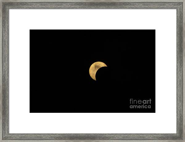 Sun Moon Clouds Framed Print